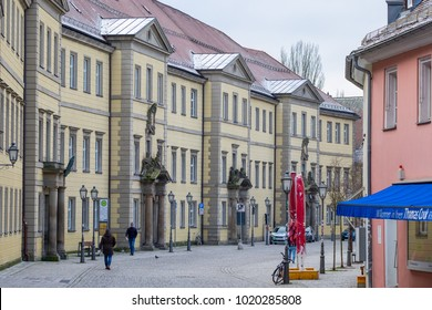 BAYREUTH, GERMANY - 05.02.2018 : Bavarian Town Bayreuth, Downtown Bayreuth (old town)-Kanzleistrasse