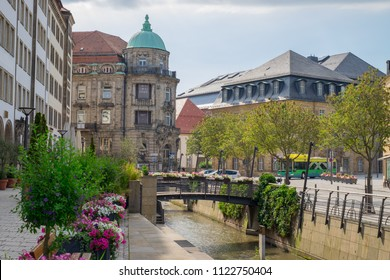 BAYREUTH, GERMANY - 22.06.2018 : Bavarian Town Bayreuth, Downtown Bayreuth-Iwalewahaus