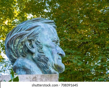 BAYREUTH, GERMANY - OCT 1: Statue of Richard Wagner, Bayreuth, Germany on October 1, 2013. Richard Wagner was a German composer, theatre director, and conductor who is primarily known for his operas.