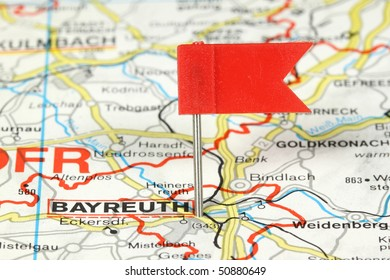 Bayreuth City Germany Red Flag Pin Stock Photo Edit Now 710705893