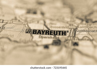 Bayreuth on map.