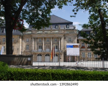 Bayreuth/Germany- July 8 ,2017 :  Central historical part of the city of Bayreuth.