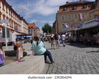Bayreuth/Germany- July 8 ,2017 : City Wine Festival in Bayreuth.