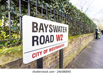 Bayswater Road sign.