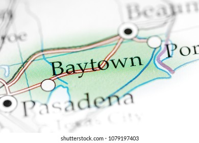 Baytown, USA on a map.