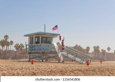 Baywatch at Santa Monica Beach