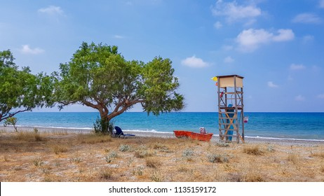 baywatch tower with ocean