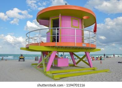 baywatch tower on the beach