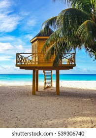 Baywatch tower in tropical beach
