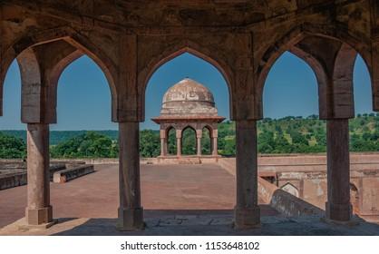 Baz Bahadur's Palace in Mandu, Madhya Pradesh, India