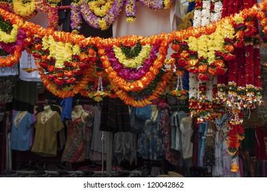 Bazaar in Little Indian District in Singapore