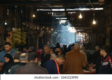 A bazaar in Tripoli Lebanon 5 february 2018