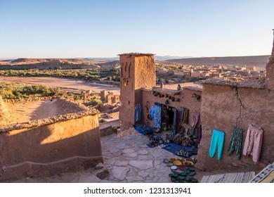 Bazar in ancient village Ait Benhaddou, Morocco