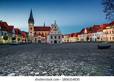 Námestie - Bazilika svätého Egídia - radnica - Bardejov - Slovensko - Shutterstock ID 1806314830