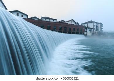 Baztan river dam, Elizondo, Navarra, Spain