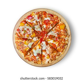 BBQ chicken pizza with olives. This picture is perfect for you to design your restaurant menus. Visit my page. You will be able to find an image for every pizza sold in your cafe or restaurant.