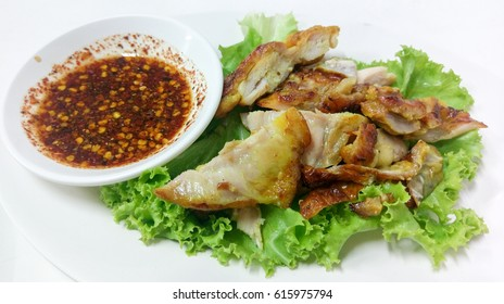 BBQ. Chicken with Spicy sauce / Thai food