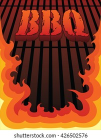 Cookout Grill Illustration Cookout Barbecue Design Stock ...