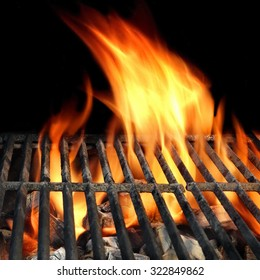 BBQ Grill Abstract Frame Background Texture Close-up