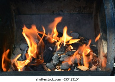 BBQ Grill and Smoker fire