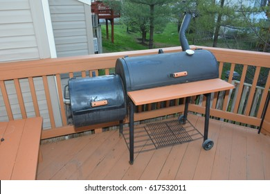 BBQ Grill and Smoker on deck