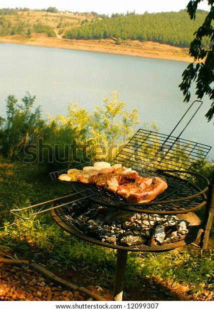 BBQ at lake side