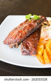 Bbq ribs meat steak - soft focus