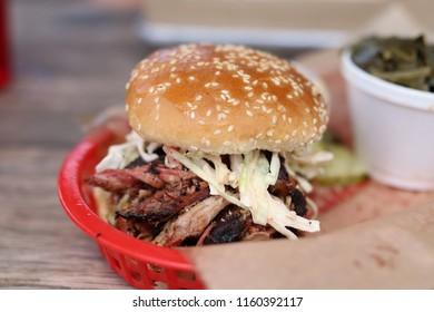BBQ Sandwich in red basket