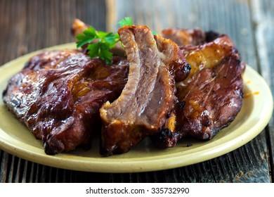 BBQ spare ribs