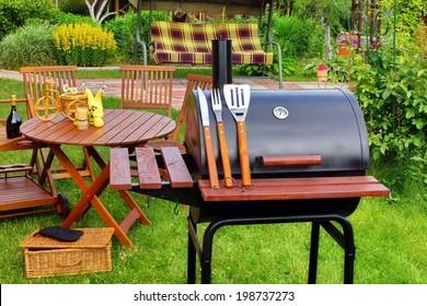 BBQ Summer Garden Party Scene