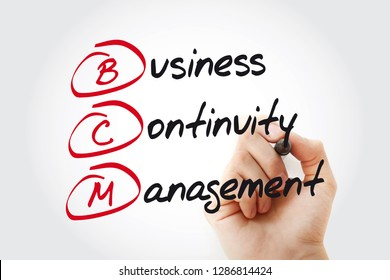 BCM - Business Continuity Management acronym with marker, business concept