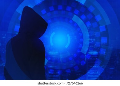 Be aware of the hacker attack. Mixed media