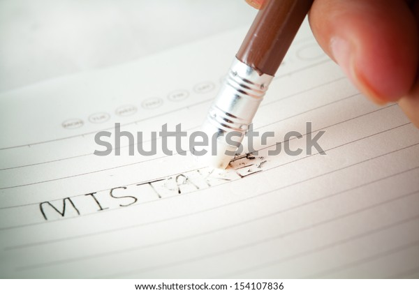 be erase the mistake word