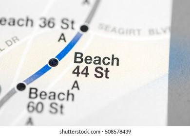 Beach 44 St. Eigth Avenue Line. NYC. USA