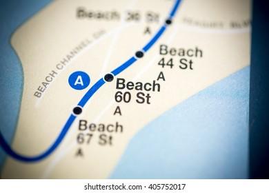 Beach 60 St. Eigth Avenue Line. NYC. USA