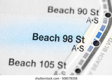 Beach 98 St. Eigth Avenue Line. NYC. USA