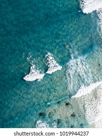 Beach from above. Seascape landscape view from the sky