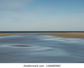 Beach abstract panning motion