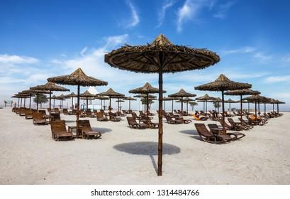 Beach in Abu Dhabi island Sir Bani Yas, United Arab Emirates