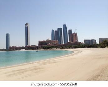 Beach in Abu Dhabi nobody