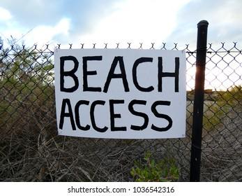 Beach Access Sign