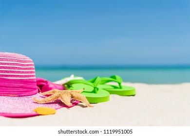 399a2de17d1b Beach Accessories Including Flip Flop Starfish Stock Photo (Edit Now ...