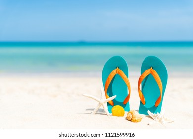 b733e27af156 Summer Accessories Flip Flops Sunglasses On Stock Vector (Royalty ...