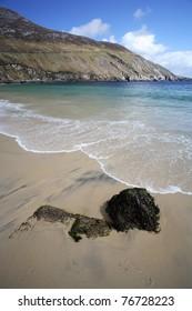 Beach in Achill Island, Ireland.