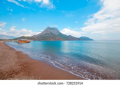Beach in Adrasan village in Antalya Province, Turkey