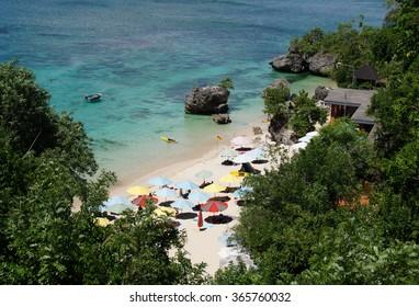Beach Aerial View, Padang-padang Beach, Indonesia.