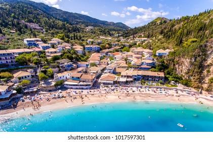 The beach of Agios Nikitas near Lefkada Town, Greece