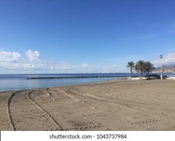 Beach of Almeria (south of Spain)