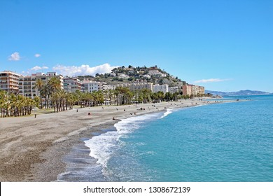 The beach at Almunecar on the Costa del Sol, Spain