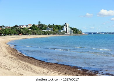 Beach along Mission Bay, Auckland, New Zealand